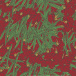 Royalty-Free Stock Vector: Red floral seamless pattern