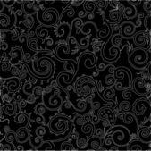 Seamless black and white swirl pattern — Stock Vector