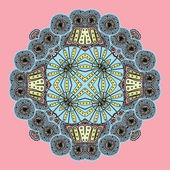 Geometric background / Circle ornament — Stock Vector