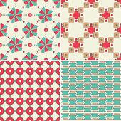 Seamless geometric pattern set — Stock Vector