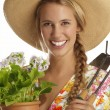 Young woman gardener — Stock Photo #13939031