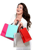 Young beautiful woman with shopping bag — Stock Photo
