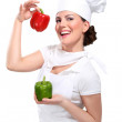 Young woman chef — Stock Photo
