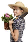 Young woman gardener — Stock Photo