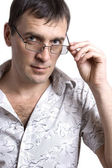 The guy wearing spectacles — Stock Photo