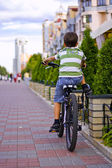 The boy on a bicycle — Stock Photo