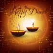 Vector diwali card design with shiny grunge background. — 图库矢量图片 #17415637