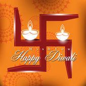 Diseño de tarjeta vector abstracto con color brillante para el festival de diwali — Vector de stock