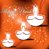 Abstract vector card design with shiny color for Diwali festival — Vettoriale Stock