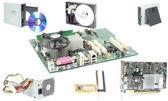 Computer mainboard hardware — Stock Photo