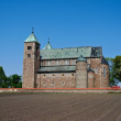 Tum, old polish collegiate romanesque church - Stock Photo