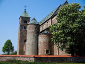 Tum, old polish collegiate romanesque church — Stock Photo