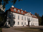 The Nieborow palace, residence with english park — Stock Photo