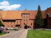 Malbork, courtyard castle — Stock Photo