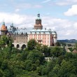 Ksiaz castle, panorama, Poland - Stock Photo