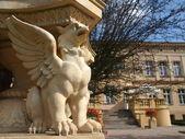 Ornements sur un palais typique en pologne — Photo