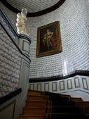 Schody w pałacu nieborow, polska — Zdjęcie stockowe