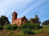 Inowlodz collegiate romansque, Poland — Stock Photo