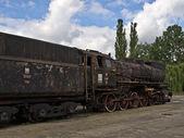 Old locomotive in Skierniewice, Poland — Foto Stock
