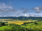 Lanscape from The Bolkow castle, Poland — Stock Photo