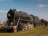 Steam locomotive, Karsznice, Poland — Stock Photo
