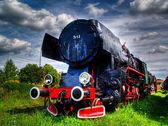 Buhar lokomotif, karsznice, polonya — Stok fotoğraf