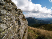View for Polonina Carynska on Bieszczady mountain, Poland — Stock Photo