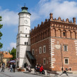 Old Town with Town Hall in Sandomierz, Poland - Stock Photo