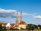 Wroclaw old city panorama - Cathedral Island, Poland — Stock Photo