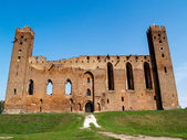 The ruins of a medieval Ordensburg castle built by the Teutonic Knights, Radzyn Chelminski, Poland — Stock Photo