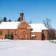 Old polish church in winter landscape, Poland — Stock Photo #19375953