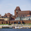 A view of the panorama of Torun, Poland - Stock Photo