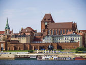 A view of the panorama of Torun, Poland — Stock Photo