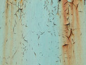 Grunge texture of green rusty metal with scratches — Stock Photo