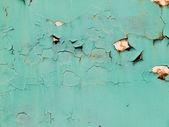 Rusty metal, peeling paint, green tones, bright colors — Stock Photo