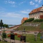 Grudziadz in Pomerania region of Poland. Medieval city walls wit — Stock Photo