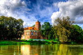 Gothic style castle located in Uniejow, Poland — Stock Photo
