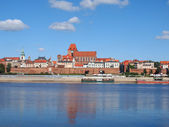 Old Town in Torun, view at Wistula river, Poland — Stock Photo