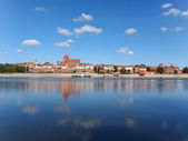 Old Town in Torun, beautiful reflected in the water, Poland — Stock Photo