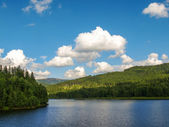 View of mountain lake in Beskidy, Poland — Stock Photo