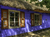 Maurzyce museum. Wooden old cottages.tif — Stock Photo