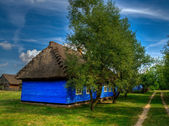 The open-air musuem in Maurzyce. Old wooden houses, — Stock Photo
