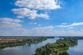 View on Goplo lake over clear blue sky, Kruszwica,  Poland — Stock Photo