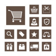 Electronic commerce icon set - simplicity theme - Stockvektor