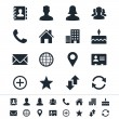 Contact icons - Stok Vektör