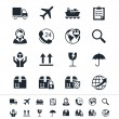 Logistics and shipping icons — Stock Vector