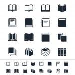 icone libro — Vettoriale Stock