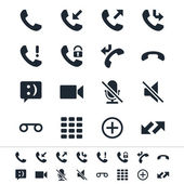 Telephone icons — Stock Vector
