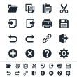 Application toolbar icons - Imagen vectorial
