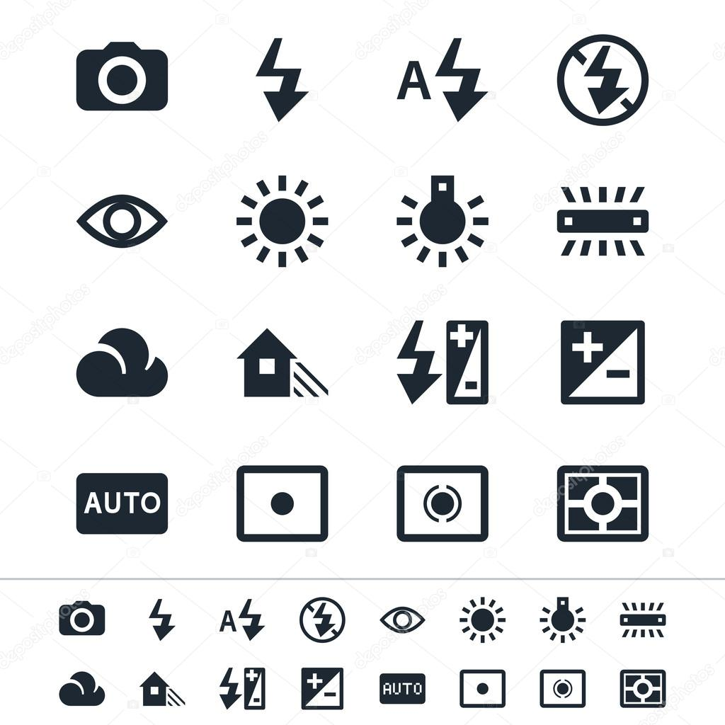 Photography icons — Stock Vector © wonderfulpixel #21225803
